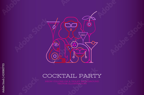 Staande foto Abstractie Art Cocktail Party