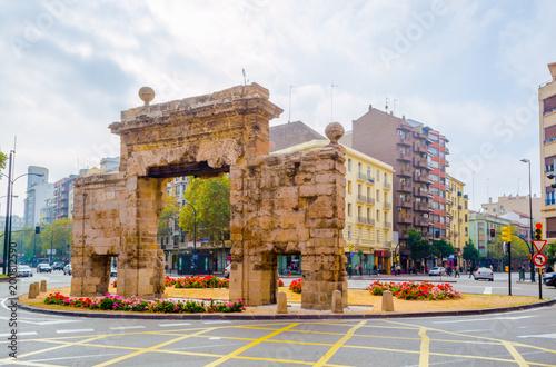 View of the puerta del carmen in Zaragoza, Spain