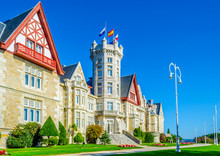 View Of The Magdalena Palace In Santander, Spain