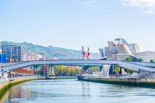 Riverside Of Nervion River In Bilbao, Spain