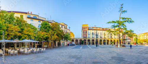 View of the plaza del mercado in the spanish city logrono Slika na platnu