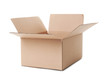 canvas print picture - Open cardboard box on white background