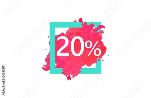 Fotomural 20 Percent Discount Number Water Color Frame