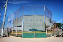 Baseball Field Backstop At Park
