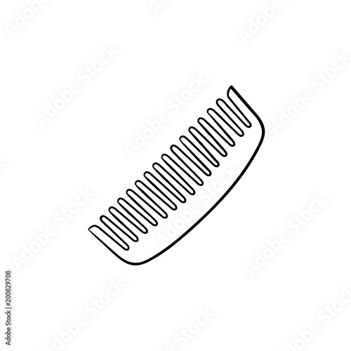 Comb hand drawn outline doodle icon Fototapeta
