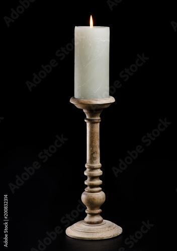 Leinwand Poster Kerzenständer Kerzenleuchter holders Holz Flamme Wachs Kerze Dekoration