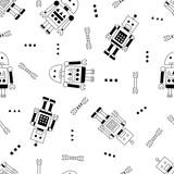 Robot i klucz bez szwu w stylu skandynawskim - 200832565