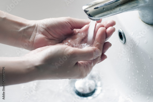 Fotomural  Hygiene. Cleaning Hands.