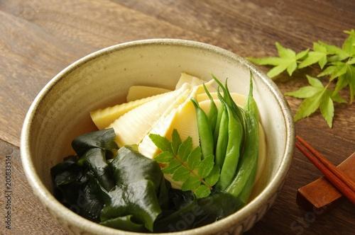 若竹煮 タケノコとワカメの煮物 家庭料理