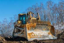 Large Bulldozer At The Constru...