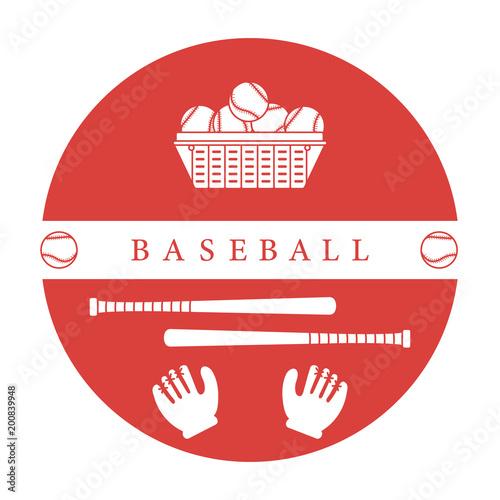 Photo  Gloves, balls, baseball bats. Baseball equipment.
