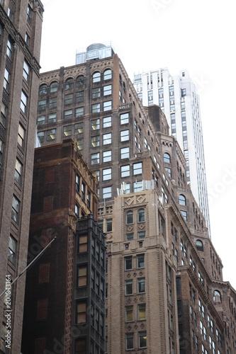 Deurstickers Rotterdam New York City architecture