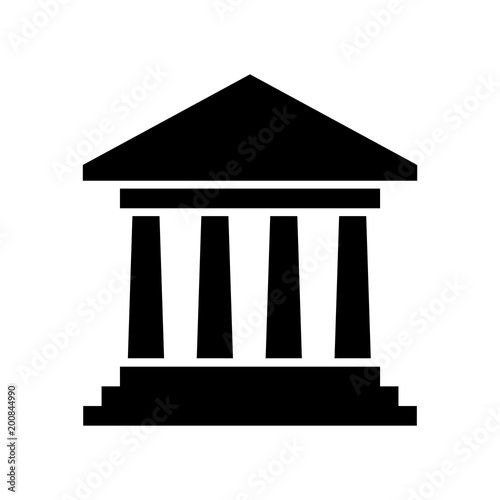 Αφίσα government building icon vector