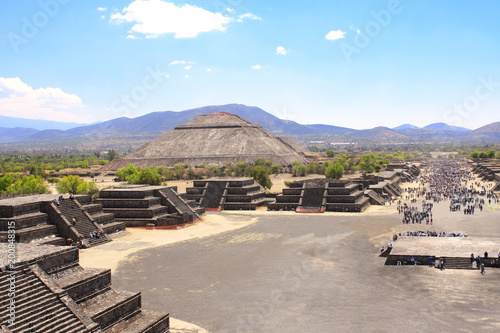 Tuinposter Mexico Pyramid of Sun, Teotihuacan, Mexico
