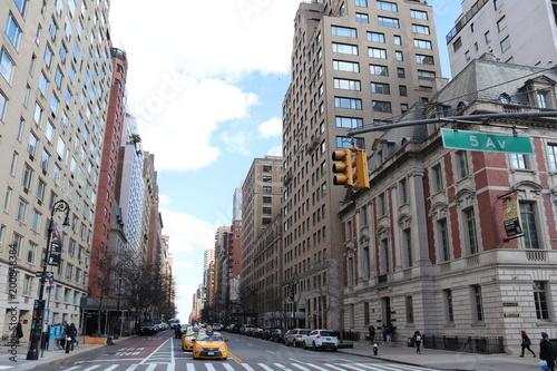 Staande foto New York TAXI New York City architecture