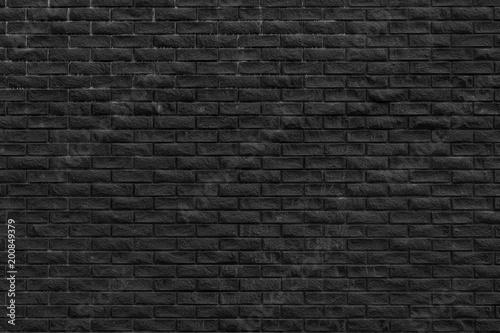 Poster Baksteen muur Black brick wall background