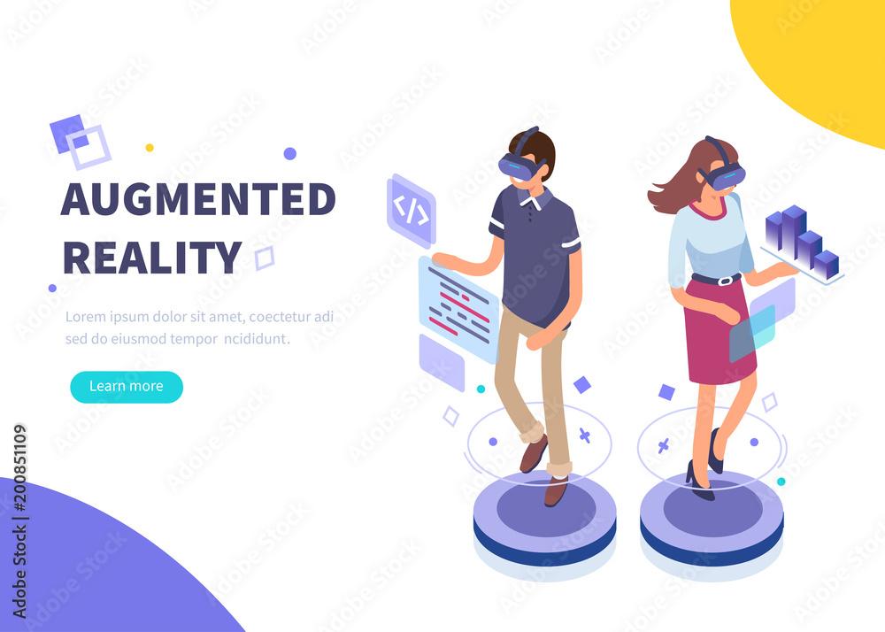 Fototapeta augmented reality