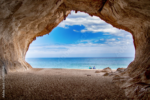 Motiv-Rollo Basic - cave at a lonely secret beach