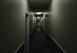 canvas print picture - Ghost in the Hallway