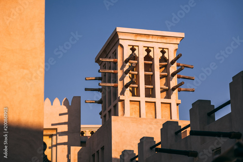 Photo  Old style buildings in Dubai