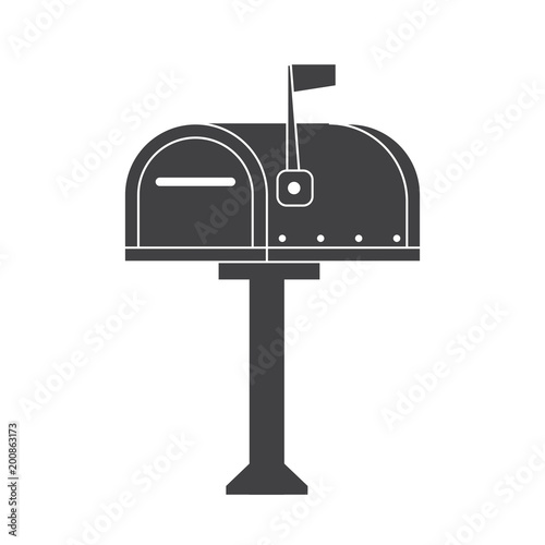 Modern letter box for mail letters outline illustration vintage modern letter box for mail letters outline illustration vintage mailbox icon monochrome post box spiritdancerdesigns Choice Image