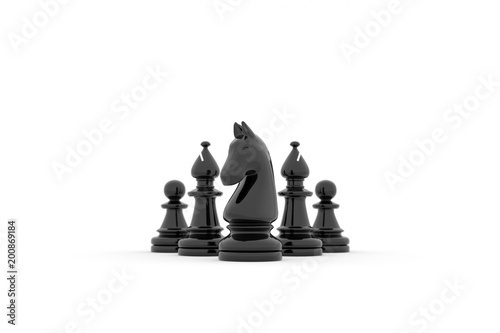Papiers peints Montagne Chess team building strategy - kight, bishops and pawns