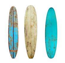 Vintage Wood Surfboard Isolate...