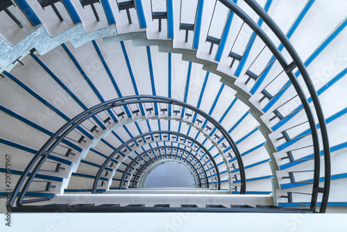 semicircle spiral staircase closeup Canvas-taulu