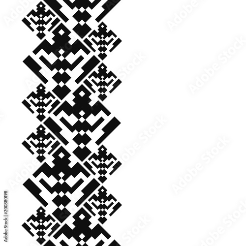 Navajo tattoo designs Kokopelli Tattoo Belt Tribal Card In American Indian Style Seamless Border For Design Ethnic Tiled Ornament On White Background Navajo Pixel Tiles Adobe Stock Tattoo Belt Tribal Card In American Indian Style Seamless Border