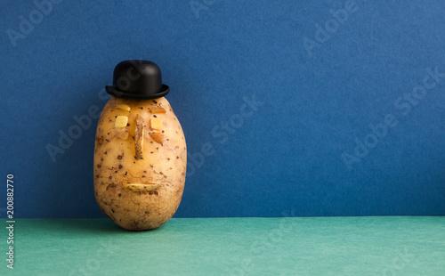 Fototapeta Senor Potato bowler hat serious face