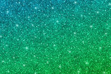 Naklejka Glitter texture with blue green gradient