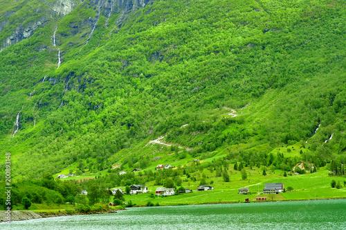 In de dag Lime groen Landscapes of Norway