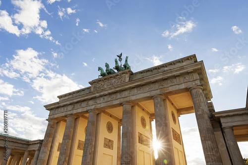 Germany, Berlin, Brandenburger Tor at back light