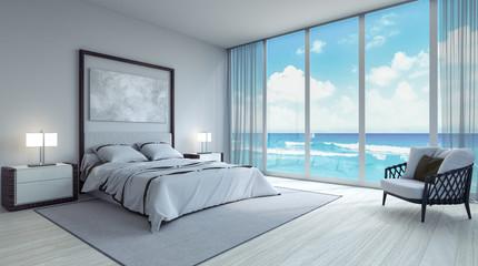 Nowoczesna sypialnia wnętrz 3d Render 3d ilustracji