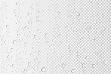 Vector Water Drops On Glass. Rain Drops On Transparent Background