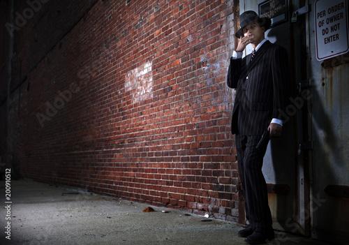 Fotografie, Tablou  Forties style film noir gangster