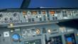 A pilot checks the dashboard, close up.