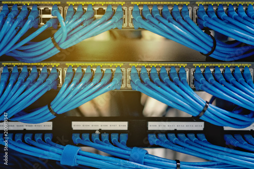 Astonishing Lan Cable Wiring And Networking In The Network Or Server Rack In The Wiring Digital Resources Funapmognl