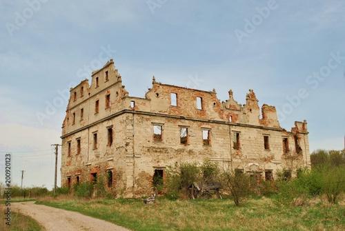 Ruiny renesansowego pałacu Poster