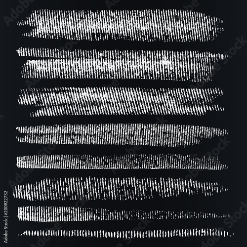 Fényképezés Dynamic vector brush on the blackboard