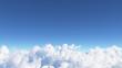 Leinwandbild Motiv Blue sky with clouds 3D render
