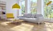 Leinwanddruck Bild - Modern bright interiors apartment 3D rendering illustration