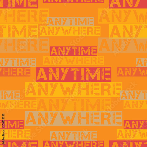 Anytime anywhere pattern Canvas Print