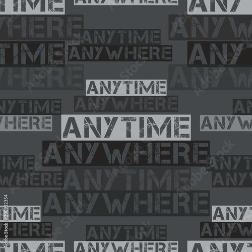 Anytime anywhere pattern Wallpaper Mural