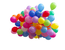 A Lot Of Colorful Balloons. Wh...
