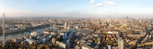 Fotografie, Obraz London Aerial Panorama View feat