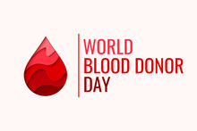 World Blood Donor Day Vector B...