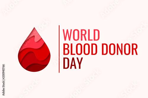 Fotografía  World Blood Donor Day vector background