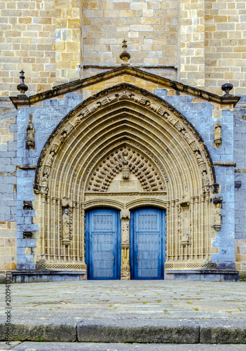 The Iglesia Santa Maria church in Gernika, a historic town in the province of Biscay (Bizkaya), Spain Poster