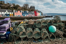 Fishing Traps On A Quay Wall W...